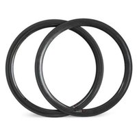 Wholesale Decals For Road Wheels - 50MM depth clincher carbon rim 23mm 25mm wide basalt for road bike logo decal availalbe hulksports