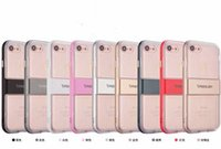 Wholesale Iphone Bumpers Pack - fashion Caseology clear transparent bumper frame combo slim case cover skin for iPhone 7 and 7 Plus luxury case with packing