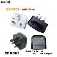 Wholesale fuse adapter resale online - Amvykal High Quality BS EU To UK Plug Adapter Converter AC Power Charger Connector UK GB Travel Plug Adaptor With Fuse