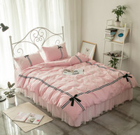 Wholesale Girls Bedroom Comforters - 2017 Newest Luxury Bed Skirts bedding set Romantic bedroom contton Duvet cover bedding set for girls and womens