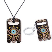 Wholesale Breath Keychain - The Legend of Zelda Breath of the Wild Necklaces & Pendants Alloy Key Ring Keychain Jewelry Unisex For Gift