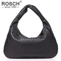 черные сумочки оптовых-Оптовая продажа-высокое качество мода ручной вязание Женщины сумки на ремне бренд дизайн черный искусственная кожа сумки ткать офисные сумки доллар цена