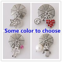 Wholesale Gold Multicolor Rings - Wholesale-Ginger Snap Jewelry owl and many Shaped Snap Buttons Fit Snap Button Bracelet Rhinestone Delicate Multicolor Mixed 20 mm KB5086
