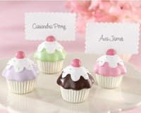 50PCS / LOT Cake place card holder wedding favor with 4 color gift for Birthday party favour and wedding decorations Livraison gratuite