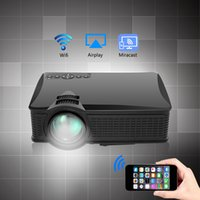 All'ingrosso-2017 mini proiettore portatile multifunzionale SD60 1500 Lumens HD LED Home Cinema supporto Miracast Airplay Wifi Proyector Beamer