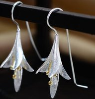 Dangle & Chandelier orchid names - 2017 Thailand Sterling Silver Earrings long Earrings Vintage female orchid family name wind lotus Earrings female personality