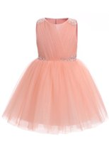 Wholesale Chiffon Shirts For Kids - 2017 Flower Girls' Dresses for Weddings Kids' Dress Ball Gown First Communion Pageant Birthday Knee Length 2-12 Year Christening
