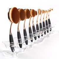 Wholesale Toothbrush Display Stand - MAANGE Brushes Display Holder Stand Toothbrush Makeup Tools Brush Showing Rack Holder Makeup Brushes Drying Shelf Clear Black White Red