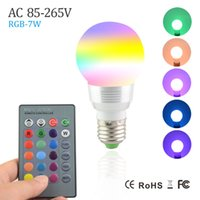 Wholesale Spot Luz - NEW 7W RGB Lampada LED Bulb E27 85-265V RGB LED Lamp E27 220V 110V Spotlight Lamparas LED Light Bulb Spot Luz Christmas Lampadas