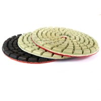Wholesale Diamond Floor Pads - 3 pieces Thickened Wet Diamond Polishing Pad Flexible Grinding Disc Coarse to Fine for Floor Renovation