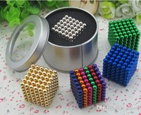 Wholesale Led Magic Ring - New 5mm Size 216 Magnetic Balls Magic Toys Neo Puzzle Magnet Cube Block Cubo N35 Magico Education Toys for best Christmas gift