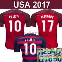 Wholesale Team Usa Football Jersey - USA Soccer Jersey 2017 2018 American National Team Gold Cup United States PULISIC DEMPSEY DONOVAN BRADLEY Football shirts Thailand Quality