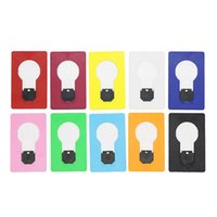 Wholesale Credit Card Lights - Pocket Folding LED Credit Card Light Indoor Portable LED Card Pocket night Light bulb Lamp Wallet Size for outdoor campingWhite Warm White