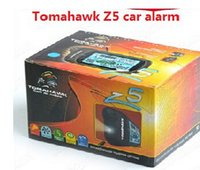 Wholesale Tomahawk Z5 - Newest TOMAHAWK Z5 car alarm system lcd car alarm system with engine starter two way russian market Free shipping