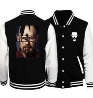 Wholesale Breaking Bad Hoodies - Wholesale- 2017 Spring Hot Sale Breaking Bad Heisenberg Baseball Jackets Men Fashion Hoodies Brand Clothing Men Coat Plus Size S-5XL