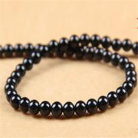 ingrosso collane di onice nere-Perle di pietra agata rotonda 6MM Dorato pietra preziosa gemma di onice nero per monili che fanno perline sparse bracciali collana accessori