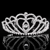Wholesale International Locks - free shipping Pearl diamond bride crown international station selling hair accessories wedding bride jewelry wedding dress accessories