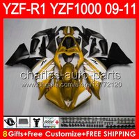 Wholesale yamaha yzf r1 fairings for sale - Group buy 8gifts Body For YAMAHA YZFR1 YZF R1 gloss golden NO57 YZF YZF R YZF1000 YZF R1 golden black Fairing