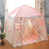 Wholesale Children Tent House - Wholesale-Love Tree Kid Play House Cotton Canvas Indoor Children Sleeping Tent Large House --Pink House