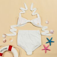 Wholesale Sling Swim Wear - 2017 Women Sexy High Waist Split Swimwear Sling Bikini Swimsuit Summer Beach Bathing Suits Swim Wear Push Up Biquini Swimsuits