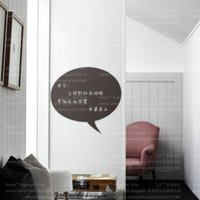 Wholesale Wall Decal Messages - 217 DIY Chalkboard Kitchen Decal Vinyl Bubble For Home Decor Waterproof Leave A Message Blackboard Removeable Wall Sticker