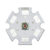 Wholesale cree star - Wholesale- 5PCS Cree XLamp XPE XP-E 1W 3W RED 620nm-630nm LED Light Emitter Bulb mounted on 20mm Star PCB