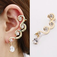 Wholesale Hot summer creative personality simple plum ear clip high quality luxury diamond ear jewelry free distribution
