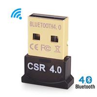 bluetooth usb für laptop großhandel-Großhandels-drahtloser USB Bluetooth Adapter V4.0 Bluetooth Dongle Musik-Tonempfänger Adaptador Bluetooth Übermittler für Computer PC Laptop