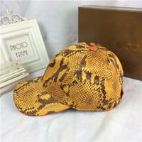 chapéu de vaqueiro amarelo venda por atacado-Padrão de cor amarela serpentina melhor qualidade chapéu de lona esportes ao ar livre lazer chapéu de sol designer de marca boné de beisebol