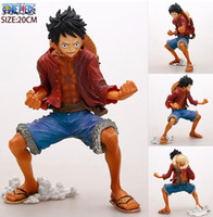 Anime One Piece Luffy PVC Action figure Collectible Modèle Toy Doll 18cm Best Gifts for Children Livraison rapide
