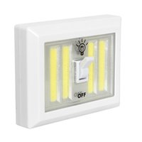 Wholesale Cordless Led Light Lamp - Magnetic 4* COB LED Cordless Light Switch Wall Night Lights Battery Operated Kitchen Cabinet Garage Closet Camp Emergency Lamp