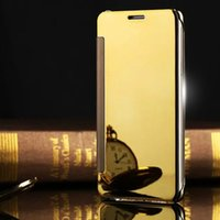 Wholesale Hot Plate Phone - Hot Selling Case For Samsung Galaxy A3 A5 A7 2016 2017 Luxury Auto Sleep Plating Flip Mirror Case Phone Back Cover Capa Funda
