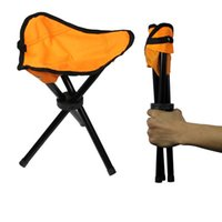 Wholesale Pounding Bench - Small Three-legged Ultralight Chair Outdoor Park Bench Camping Tripod Folding Chair Fold Fishing Foldable Portable Fishing Fold Chair