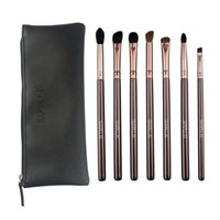Wholesale Make Ups Products - new products 2017 makeup brush set sixplus 7pcs coffee color make up brush set with cosmetic bag