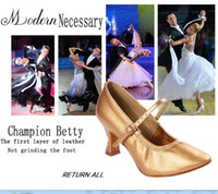 Wholesale Modern White Heels - Dance shoes Women Shoe Latin Shoes Soft Bottom Genuine Leather Sports shoes Modern Jazz Soft wear-resistant Genuine BD 125