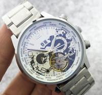 Wholesale Classic Tourbillon - New Stainless steel Wrist Watch Men Top Brand Luxury Male Famous Clock Automatic Menchanical Watches Calendar Date Tourbillon Watch Classic