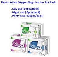 Wholesale Napkin Panty - 3 Bags Shuya Organic Cotton Anion Sanitary Napkin Day Use+Nigh Use+Panty Liners