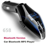 Wholesale Mp3 Player Wholesale Uk - 658 Car Bluetooth Call Hands-free Kit RadioFM Transmitter SD TF USB Car MP3 Player AUX IN Bluetooth Car Phone Charger