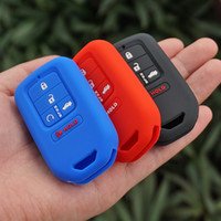 Wholesale Honda Pilot Remote Key - silicone rubber key fob cover case shell holder protect for Honda 2016 Pilot Accord Civic CRV 5 button keyless Remote