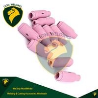 Wholesale Plasma Arc Welder - TIG Consumables WP17 18 26 Torch Pink Ceramic Nozzles #4 Accessories Kit Collet Bodies Back Cap Fit for TIG Arc Welder Torch SR17 18 26 10pk