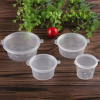 sauce cup No +120℃/-20℃ 3oz 2oz 1.5oz 1oz Plastic Disposable Cups seasoning box The takeaway packaged sauce cup Transparent tape cover