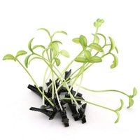 Wholesale Planting Bean Sprouts - Wholesale- Funny Show Bean Sprout Bobby Hairpin Flower Plant Hair Clips For Kids Girls Women 4*6cm