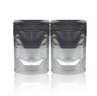 paquete al por menor de aluminio al por mayor-Qin.01.19 / 20 * 30 cm + 4 cm Bolsa de cierre de cremallera de aluminio de papel plateado de pie bolsa de embalaje de alimentos con cremallera resellable al por menor paquete