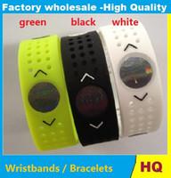 Wholesale Evolution Silicone Bracelet - wristbands PB EVOLUTION Balance Sport Perforated Silicone Energy Bracelets Wristbands Grid Bands With Retail Boxes