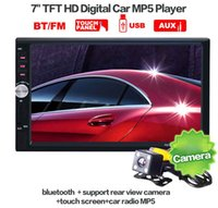Wholesale Car Tv Radio Dvd Usb - 2 Din Car Video Player 7 inch Touch Screen Car Radio Audio Stereo MP5 Player Car DVD Function USB FM Bluetooth + Rear View Camera