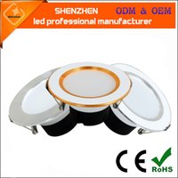 Wholesale Downlight Frame - Changeable Led Downlight 3w Ceiling Recessed Light Silver Frame 3 Color Change Warm Nature Cool White AC85-265V SMD5730 led down lamp