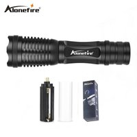 Wholesale Diving Torch T6 Cree - AloneFire E007 Powerful CREE XML T6 3800LM Zoom Flashlight Torch Zoomable Flash lights