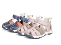 Wholesale Soft Sole Leather - 2017 Wholesale Boys Nubuck Leather Sandals Children Antislip Sole Sandal