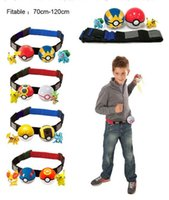 Wholesale Pc Game Collection - 2pcs Pokeball +2 pcs Anime PVC Random Master For Collection Play Game Poke Pikachu Clip n Carry Kids Poke Ball Belt Pretend WD352