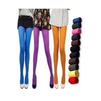 Wholesale Opaque Nylons - Wholesale-1 Pair New Arrival Stylish Women 120D Sexy Pantyhose Nylon Opaque Footed Tights Stockings Step Foot Seamless Pantyhose